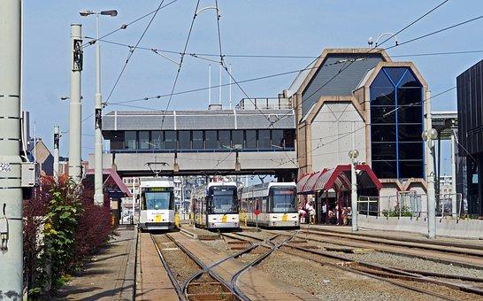 Coast, Belgium, Kusttram, Railway Station, Oostende