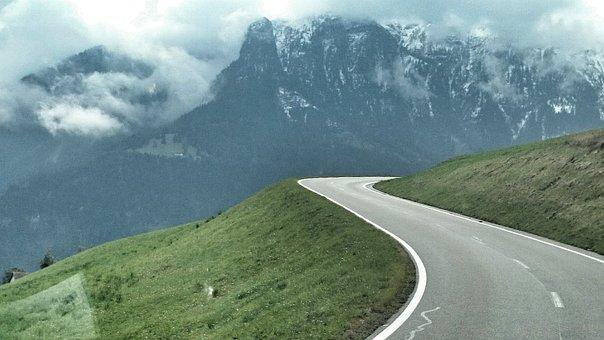Way, Bend, Landscape, View, Tourism, Streamer, Travel