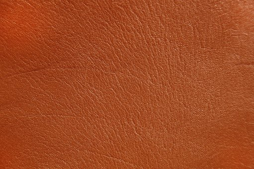 Leather, Background, Structure, Orange, Brown