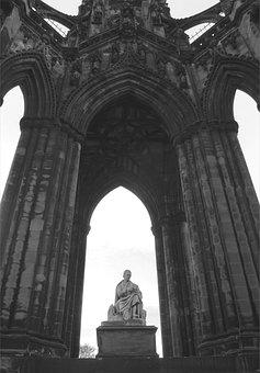 Edinburgh, Monument, Fountain, Notre Dame, City