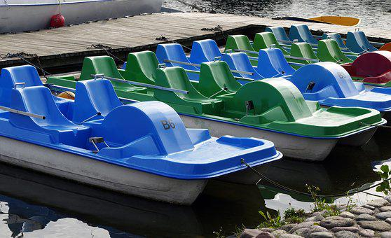Pedal Boat, Jetty, Galevs Lake, Water Sports, Lithuania