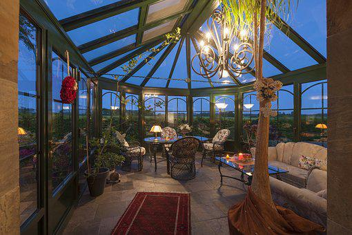 Winter Garden, Glass, Canopy, Home, Garden, Living Room