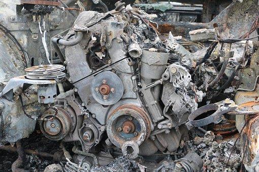 Motor, Scrap, Old, Rust, Junkyard, Machines, Broken