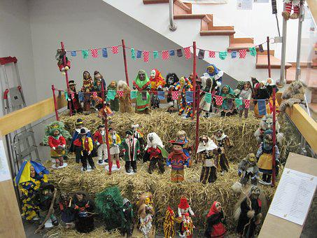 Masks, Carnival, Miniature, Move, Exhibition