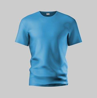 Mock Up, Tee Shirt, Dummy, Blue