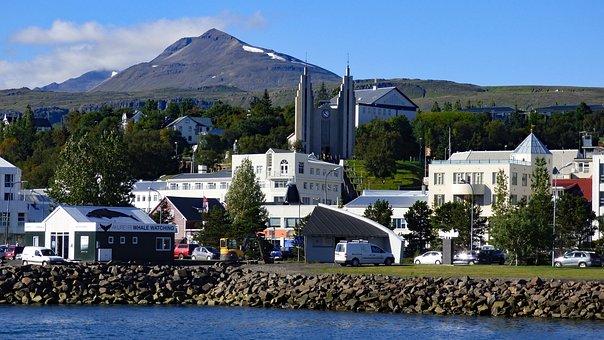 Akureyri, Iceland, Mountain, Church