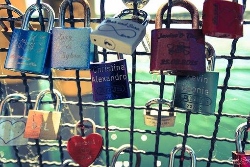 Love Castle, Castle, Padlock, Friendship, Railing