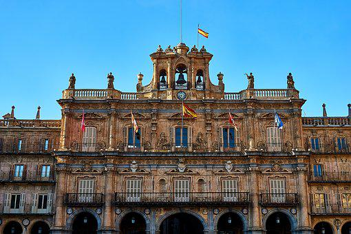 Spain, Salamanca, Space, Town Hall, Plaza Mayor, Facade