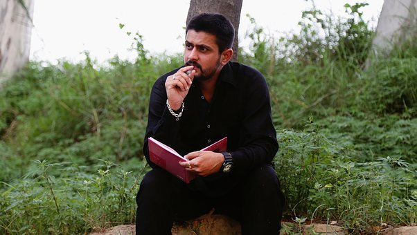 Indian, Man, Portrait, Sitting, Advice, Punjabi, Writer