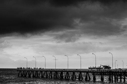 Storm, Grey, Winter, Sky, Clouds, Cold, Rain, Sea