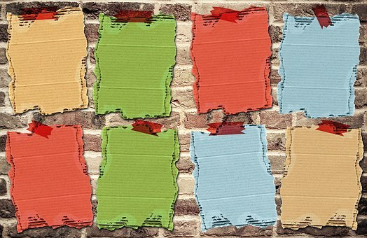 Wall, Cardboard, Background Image, Stone Wall, Template