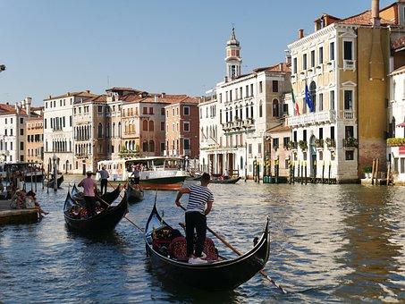 Venice, Gondola, Boating, Boat, Holiday, Gondolier