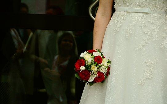 Bridal Bouquet, Bride, Wedding, Roses, Marry, Bouquet