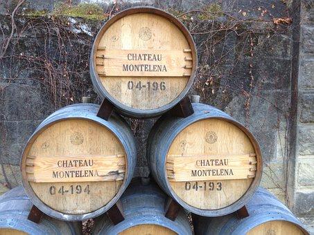 Wine, Barrels, Winery, Vineyard, Oak, California