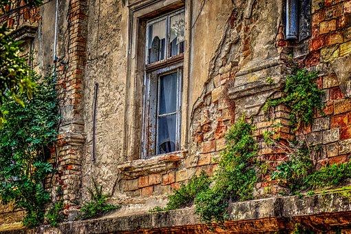 House, Shack, Demolition, Home, Broken Glass, Facade