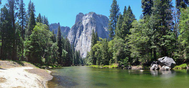 Yosemite, Cathetral Rocks, Usa, California
