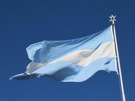 Argentina Flag, Wave, Celeste, Nation, Country