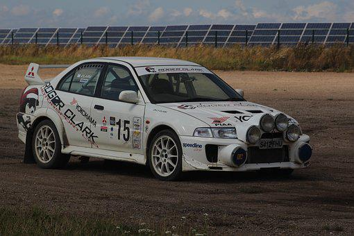 Rally, Speed, Car, Racing, Design, White, Action