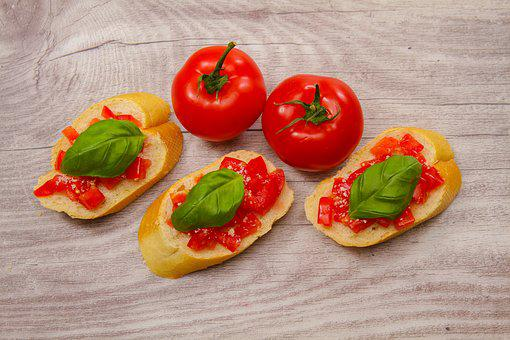 Tomatoes, Bread, Culinary Delight, Eat, Food, Healthy