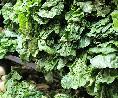 Fresh, Leafy, Vegetables, Greens, Food Market