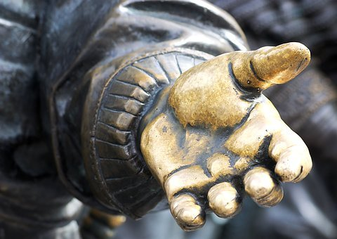 Hand, Statue, Culture, Old, Open Hand, Left, Fingers