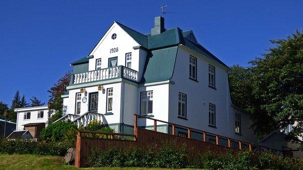 Akureyri, Iceland, House, Architecture, Home