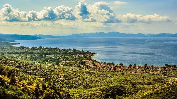 Greece, Pelio, Pagasitikos Gulf, Landscape, Panoramic