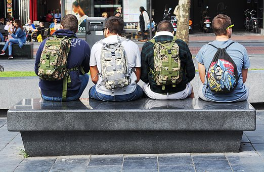 Bags, Men, Back, Male, Lifestyle, Outdoors, Young