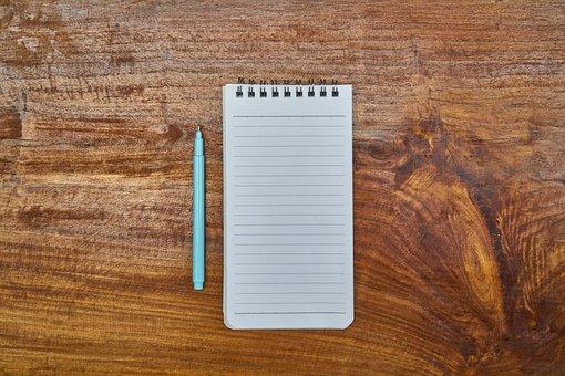 Notebook, Pen, Blue, Literature, Note Book