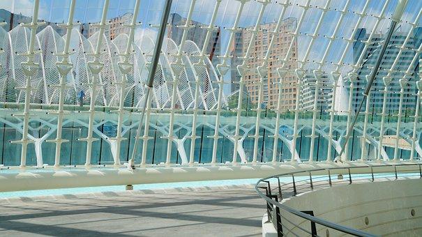 Spain, Valencia, Glass, Concrete, Metal
