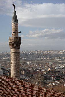 Cami, Minaret, Anatolia, Ankara, Turkey, Travel, Sky