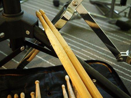 Drums, Drum, Music, Musical Instrument, Sticks