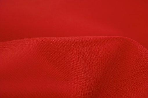 Fabric, Red, Backgrounds, Color Image, No People