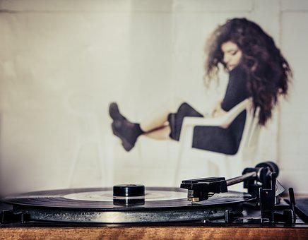 Vinyl, Record, M, Music, Turntable, Tinge, Analog