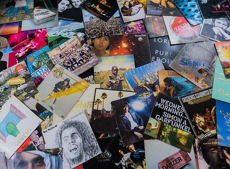 Vinyl, Records, Music, Turntable, Tinge, Analog