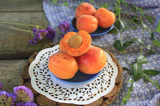 Apricot, Table, Autumn, Flowers, Harvest, Ripe, Fruit