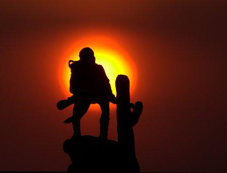 Native American, Shotgun, Watch, Sunset, Sun, Sky