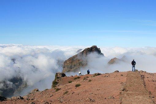 Mountains, Sky, Clouds, High, Tourism, Holidays, Travel