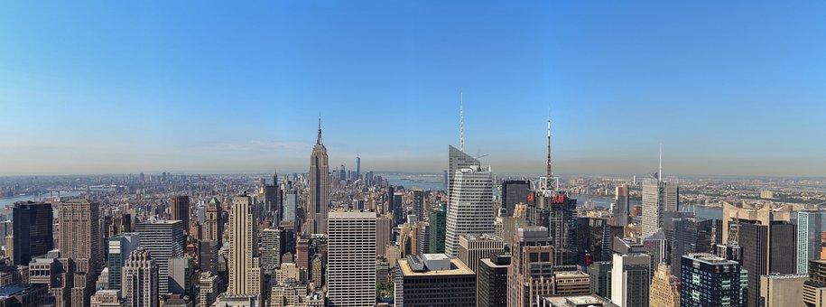 New York, Skyline, Manhattan, Nyc, Skyscraper, Panorama