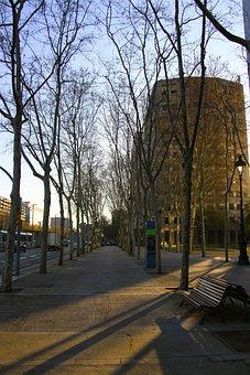 Street, Spain, Barcelona, Europe, Architecture, Travel