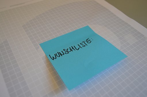 Postit, Wish List, List, Sticky Note, Desire, Note