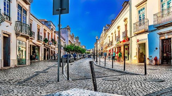 Tavira, Portugal, Street, Algarve, Summer, Old
