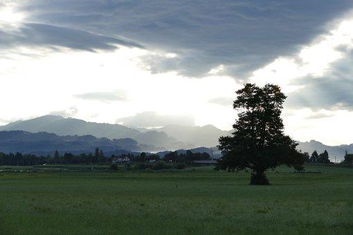 Fog, Landscape, Mood, Clouds, Thunderstorm, Twilight