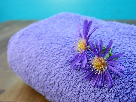 Towel, Fabric, Terry, Beauty, Wellness, Flowers
