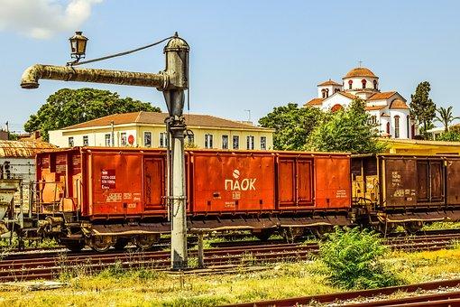Wagons, Train, Railway, Station, Volos, Greece
