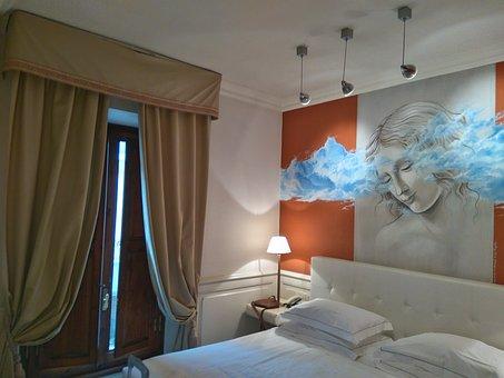 Hotel, Bedroom, Window, Tents, Read