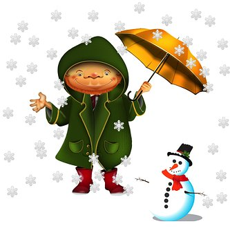 Weather, Snow, Winter, Cold, Snowman, Cartoon