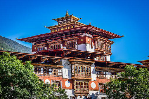 Palace, Bhutan, Architecture, Country, Buddhism