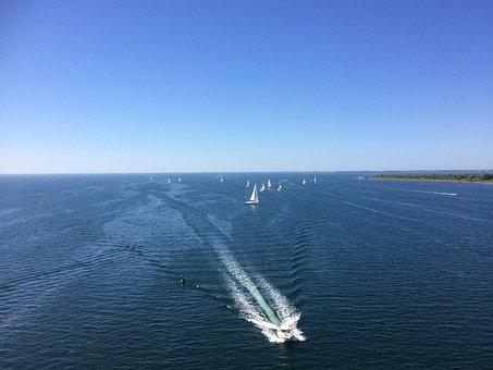 Sea, Boat, Fehmarnsund, Ship, Water, Powerboat, Blue