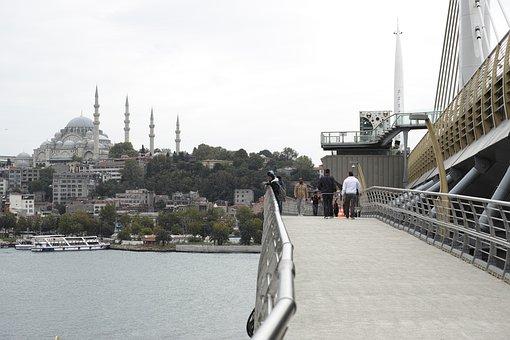 Bridge, Istanbul, City, Turkey, Landscape, Estuary